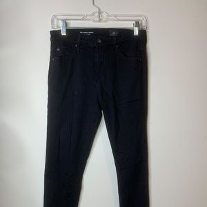 AG high-rise black skinny jeans